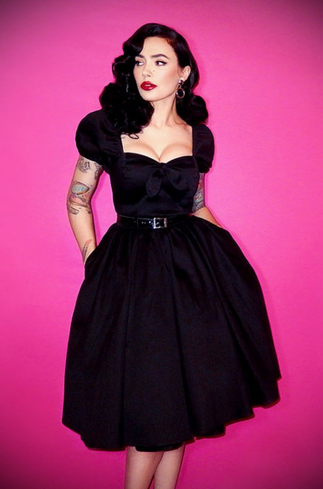 The Vixen Swing Dress in Black has arrived at Deadly, official UK stockists of Vixen by Micheline Pitt. Good things for bad girls.