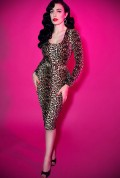 Wild Vintage Leopard Vixen Wiggle Dress
