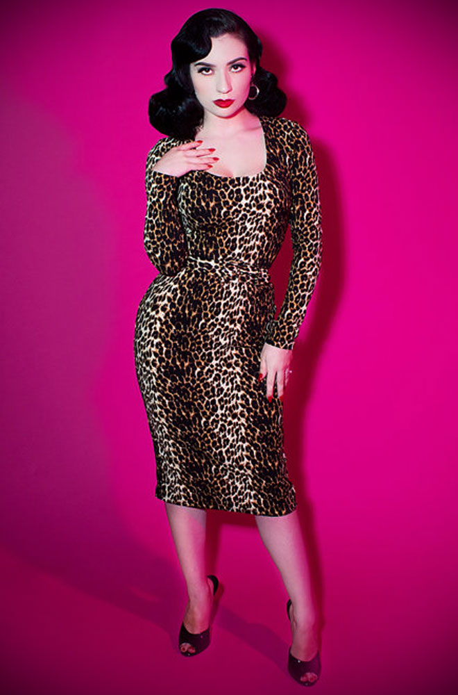 The Wild Vintage Leopard Vixen Wiggle Dress Has Arrived At