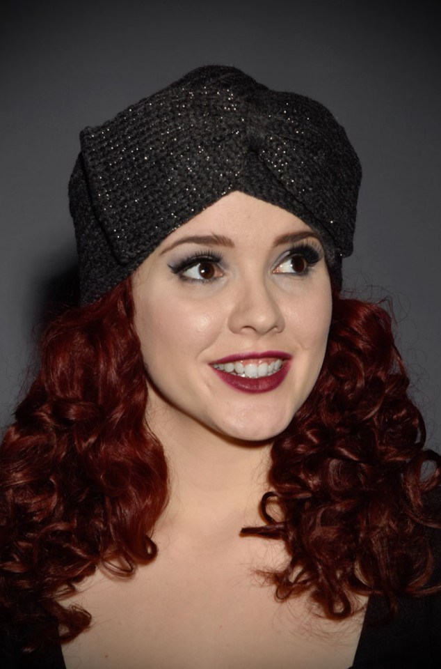 Vintage style charcoal grey bow turban style hat at Deadly is the Female. Perfect gift for pinup girls & vintage gals.