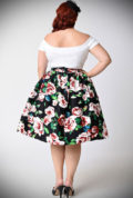 The 50's Floral Skirt has a fabulous mid-century silhouette & stunning pink rose print. Deadly is the Female are proud UK stockists of Unique Vintage.