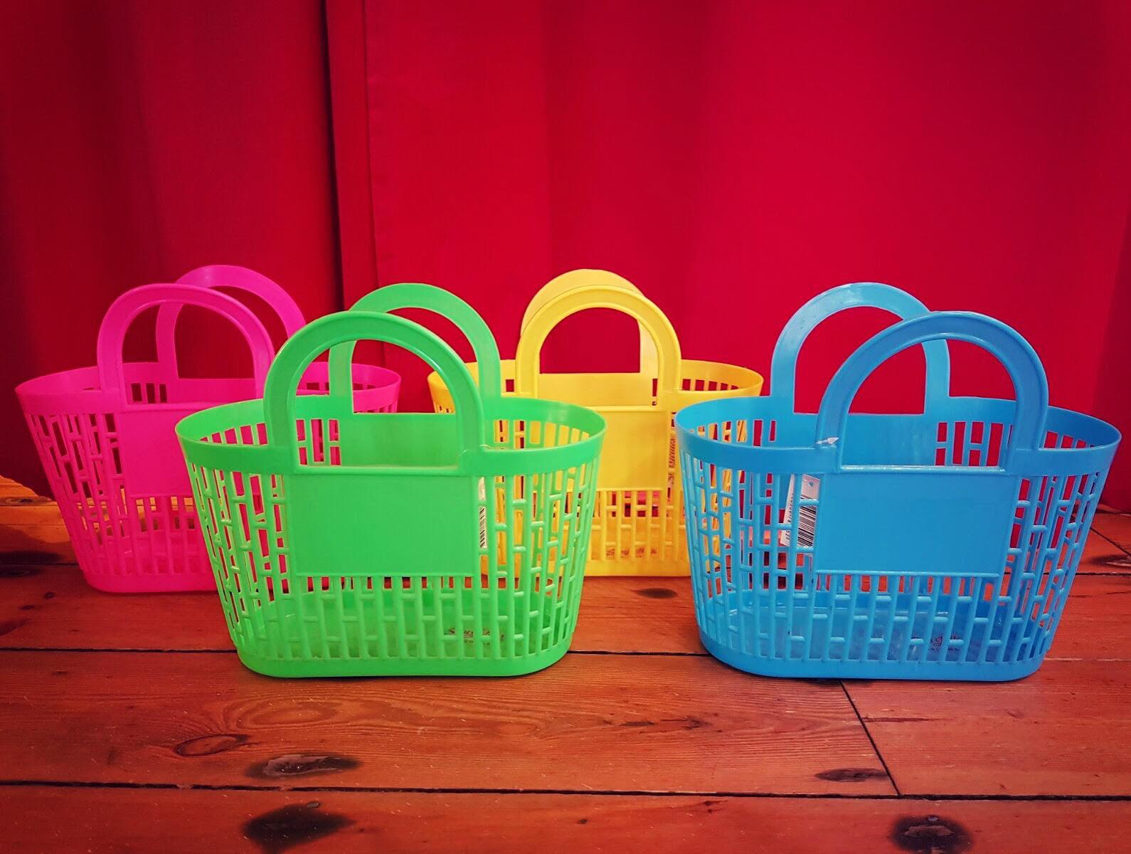Vintage Inspired Carnival Basket Bag
