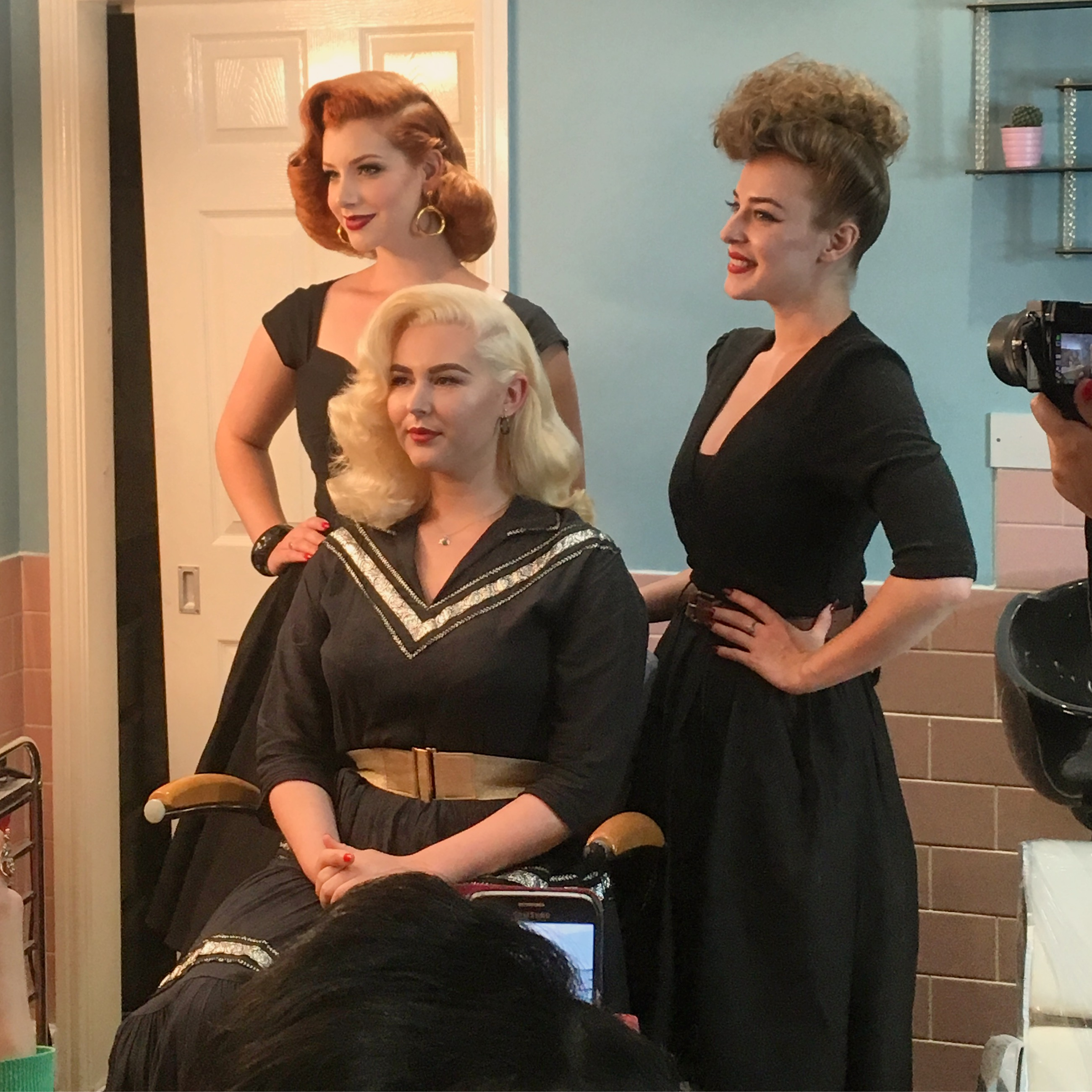 Deadly is the Female at His Vintage Touch Hair Class!