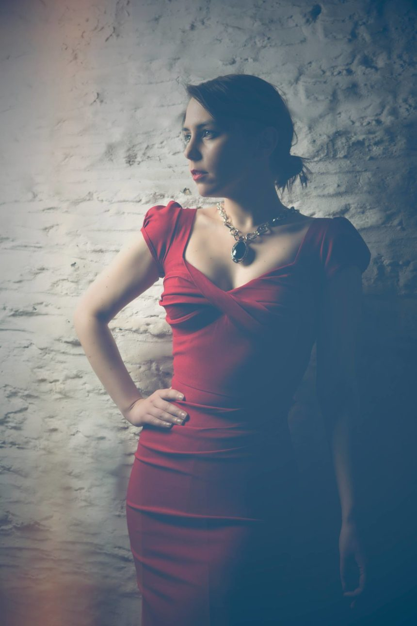 Stop Staring! Timeless, vintage inspired fashion. The Billion Dollar Baby wiggle dress in red, as made famous by Nigella Lawson when she shopped at Deadly is the Female.