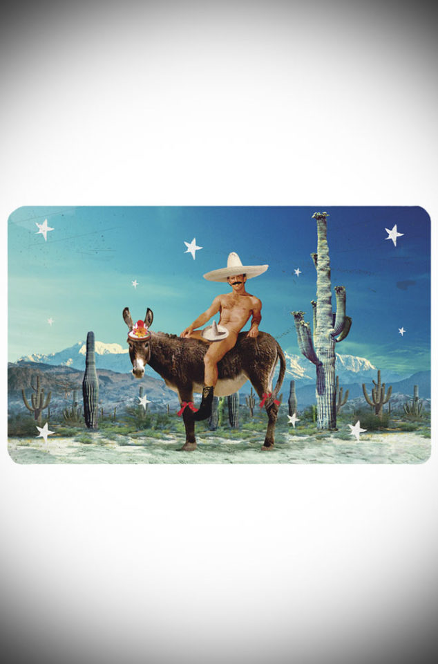 This fun Mexican Donkey breakfast board makes a great, kitsch gift! Wipe clean Melamine finish. Designed by Max Hernn at Deadly is the Female.
