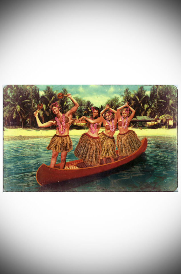 This fun Hula Canoe breakfast board makes a great, kitsch gift! Wipe clean Melamine finish. Designed by Max Hernn, now available at Deadly is the Female.