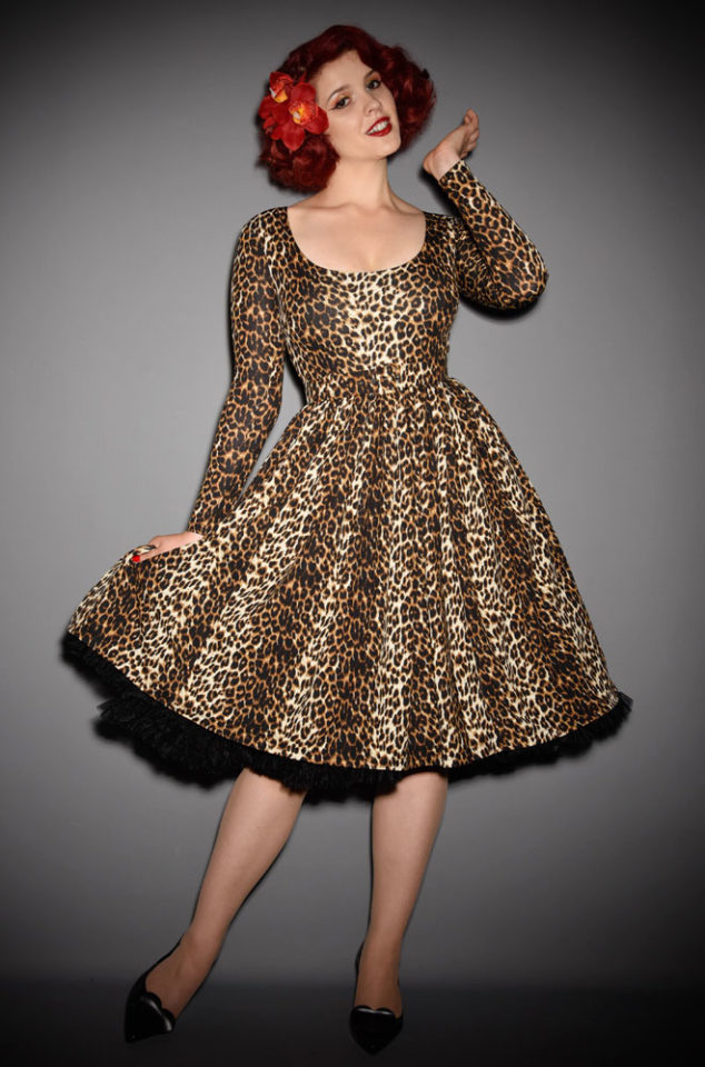 The Wild Vintage Leopard Vixen Swing Dress has arrived at Deadly, official UK stockists of Vixen by Micheline Pitt.Good things for bad girls.