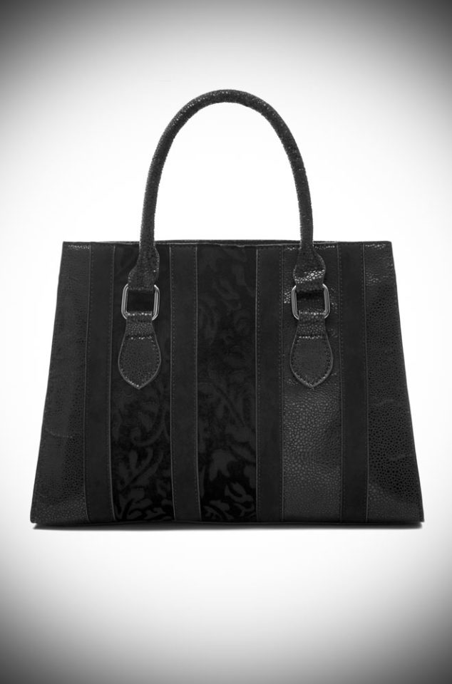 The Panama Bag is a chic black bag by Ruby Shoo. It is a good size evening day with plenty of room for all your essentials.