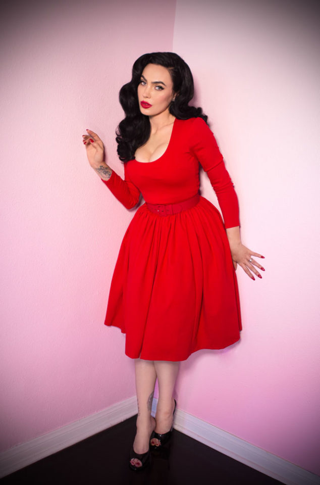 The Ravishing Red Vixen Swing Dress has arrived at Deadly, official UK stockists of Vixen by Micheline Pitt.Good things for bad girls.