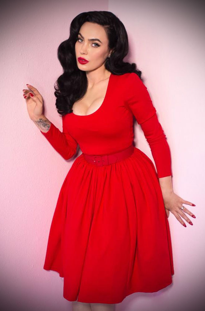 The Ravishing Red Vixen Swing Dress has arrived at Deadly, official UK stockists of Vixen by Micheline Pitt. Good things for bad girls.