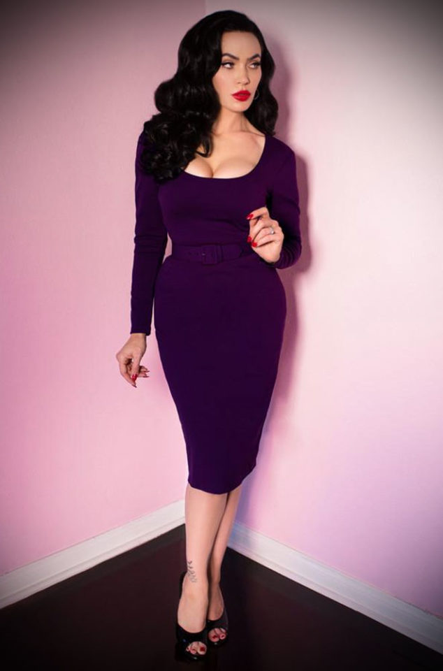 The Purple Vixen Troublemaker Dress has arrived at Deadly, official UK stockists of Vixen by Micheline Pitt. Good things for bad girls.
