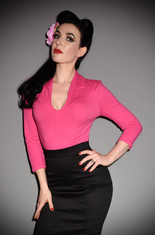 The Hot Pink Vixen Top has arrived at Deadly is the Female, official UK stockists of Vixen by Micheline Pitt.Good things for bad girls.