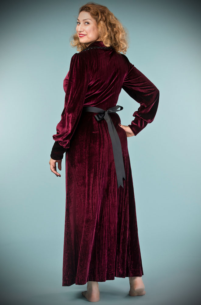The Burgundy Boudoir Robe Is The Definition Of Everyday