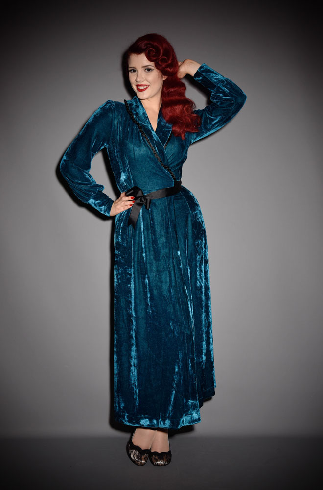 The Dark Teal Boudoir Robe Is The Definition Of Everyday Luxury