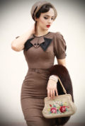 Stop Staring Bernice Dress - a vintage inspired dress, ideal as office wear but sassy enough for any occasion. This dress is demure but undeniably sultry.