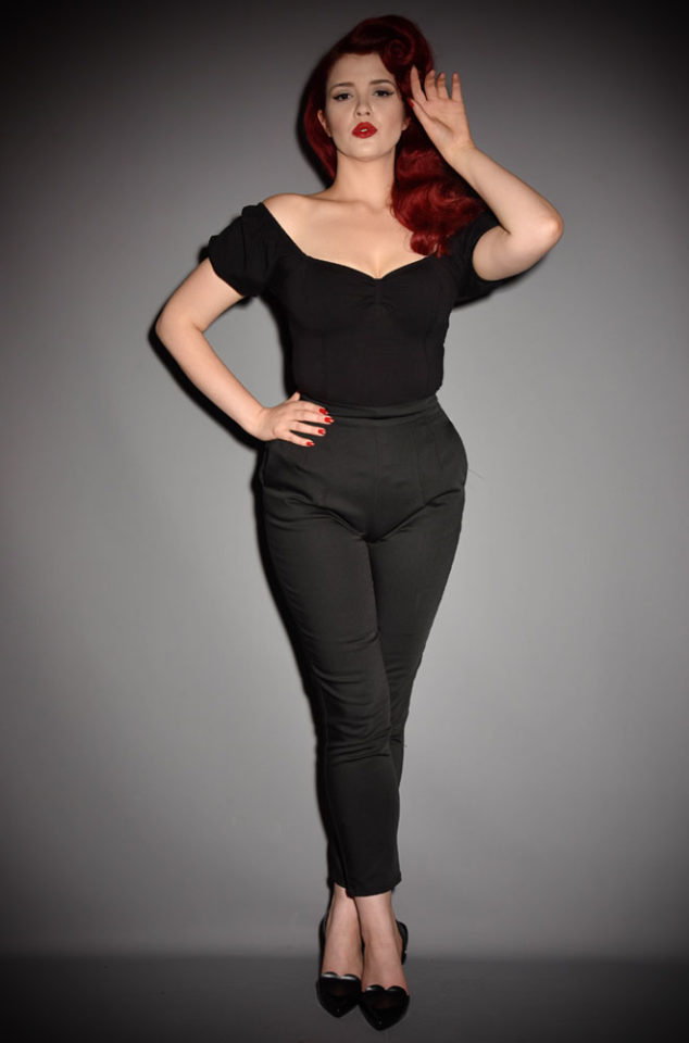 The Vixen black Cigarette Pants have arrived at Deadly is the Female, official UK stockists of Vixen by Micheline Pitt.Good things for bad girls.