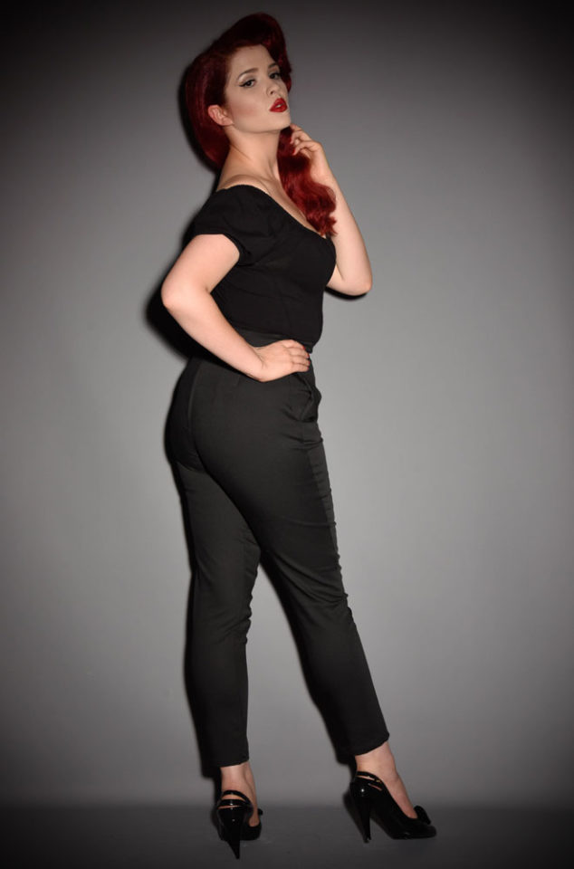 The Vixen black Cigarette Pants have arrived at Deadly is the Female, official UK stockists of Vixen by Micheline Pitt. Good things for bad girls.