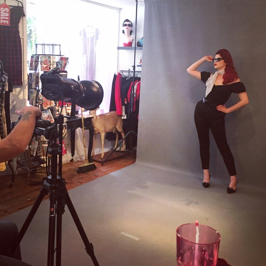 Behind the Scenes at the Deadly is the Female A/W Photoshoot