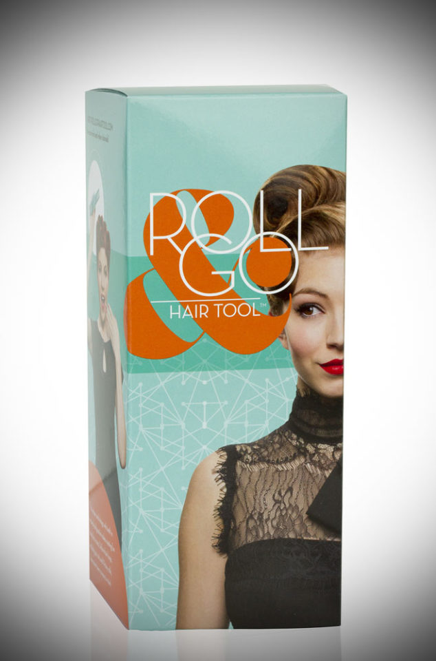 Rolling your hair into uniform shapes like Victory rolls & pin curls is easy with the Roll & Go Hair Tool! Perfect for pin ups & lovers of vintage style.