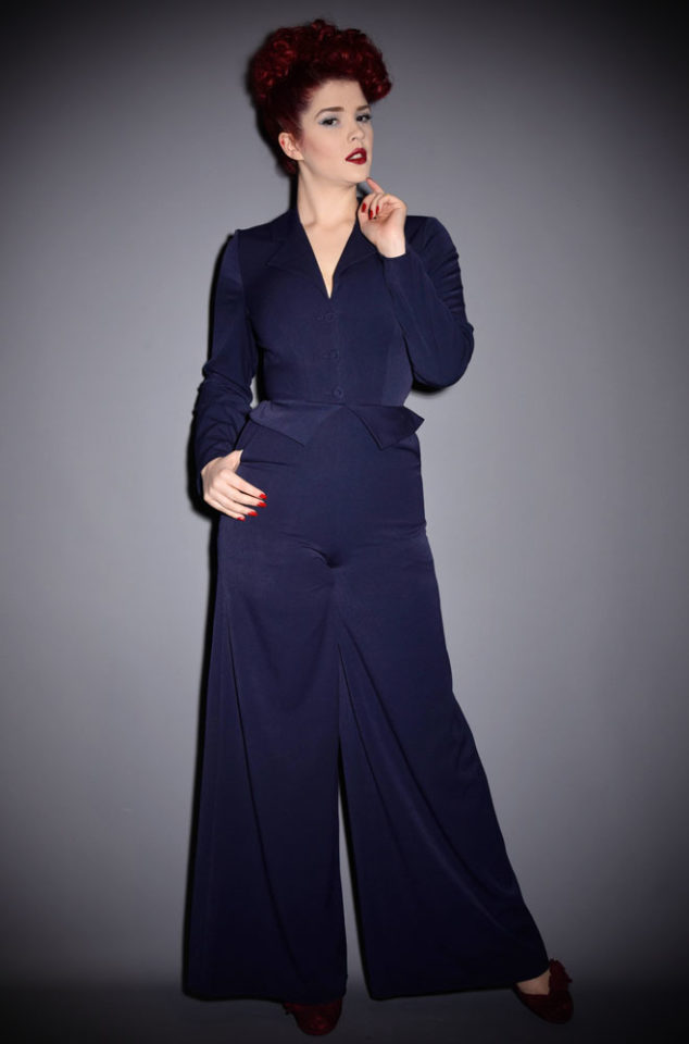 A knockout vintage inspired one piece for sassy women, introducing the Tara Jumpsuit by Miss Candyfloss at UK stockists, Deadly is the Female.