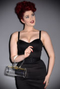 """Introducing the stunning Marilyn """"Lucite"""" box bag. This sparkling, clear bag has been inspired by Marilyn Monroe. Available now at Deadly is the Female"""