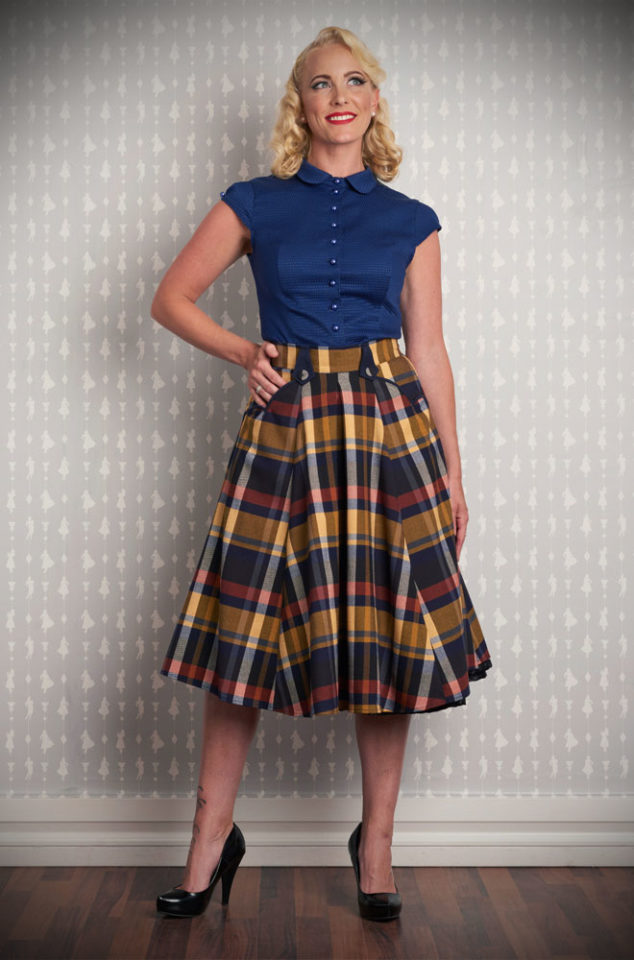 Blending Pinup style with modern day living, the tartan Tiffany Swing skirt is a dream. Deadly is the Female are UK stockists of Miss Candyfloss.