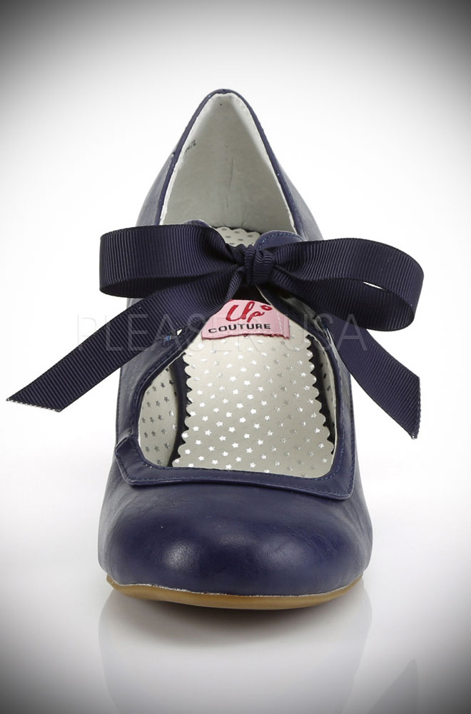 e53b445ce798f These Navy Mary Jane Shoes by Pinup Couture are classic and chic. We adore  the