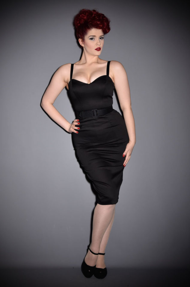The Black Sweetheart Wiggle dress is a bombshell of a dress! Deadly is the Female are official UK stockists of Vixen by Micheline Pitt.