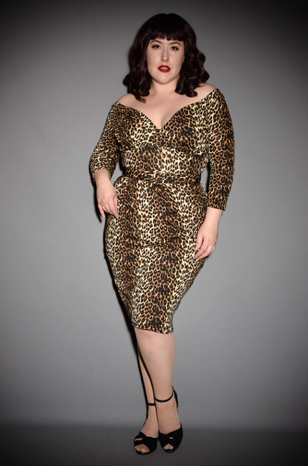 "The Leopard Print Starlet Dress is the ultimate ""Old Hollywood"" cocktail dress. Deadly is the Female are official UK stockists of Vixen by Micheline Pitt."