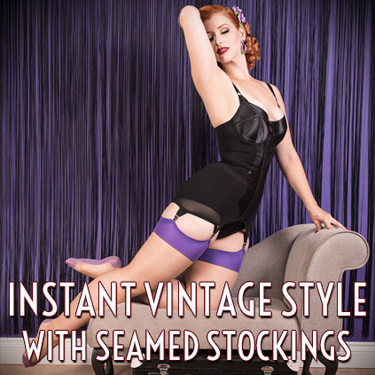 Vintage style seamed stockings and tights from What Katie Did at Deadly is the Female