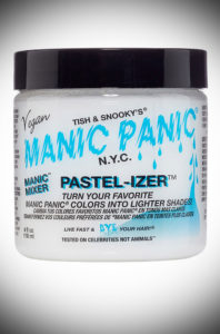 Blend the award-winning Manic Panic Manic Mixer Pastel-izer with any colour to achieve a lighter, pastel tint that is totally on-trend. Deadly is the Female are UK Stockists of Manic Panic Hair Colour.