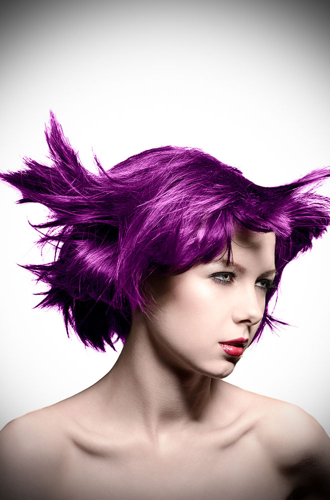 Purple Haze Manic Panic Semi Permanent Hair Colour is a warm, vibrant violet. Deadly is the Female are UK Stockists of Manic Panic Hair Colour.