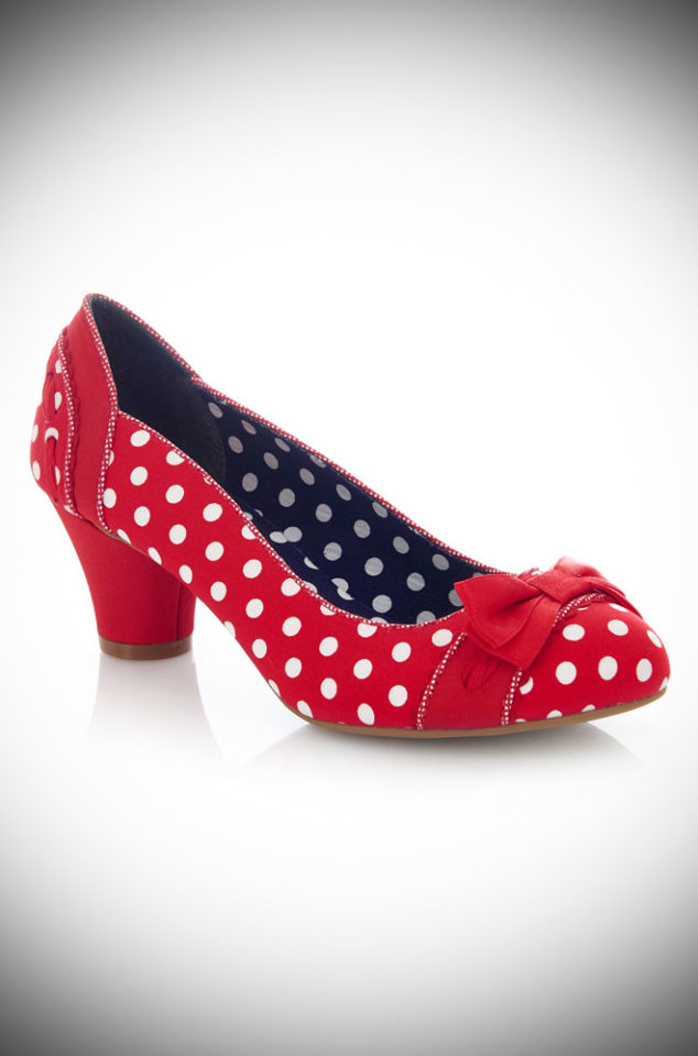 The Polka Dot Hayley Shoes are cute, simple and stylish. Designed to take your from day to night in effortless style and comfort. By Ruby Shoo at Deadly is the Female.