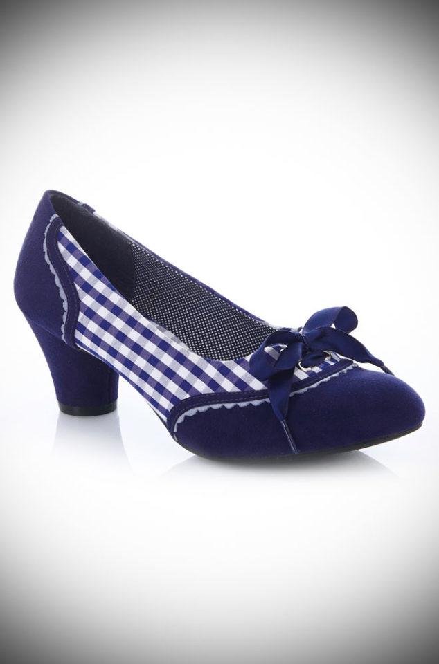 The Ophelia Gingham Shoes are cute, simple and stylish. Designed to take your from day to night in effortless style and comfort. By Ruby Shoo at Deadly is the Female.