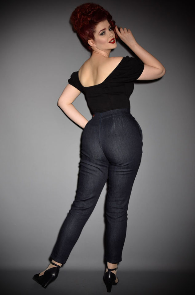 The Vixen Stretch Denim Cigarette Pants have arrived at Deadly is the Female, official UK stockists of Vixen by Micheline Pitt.Good things for bad girls.