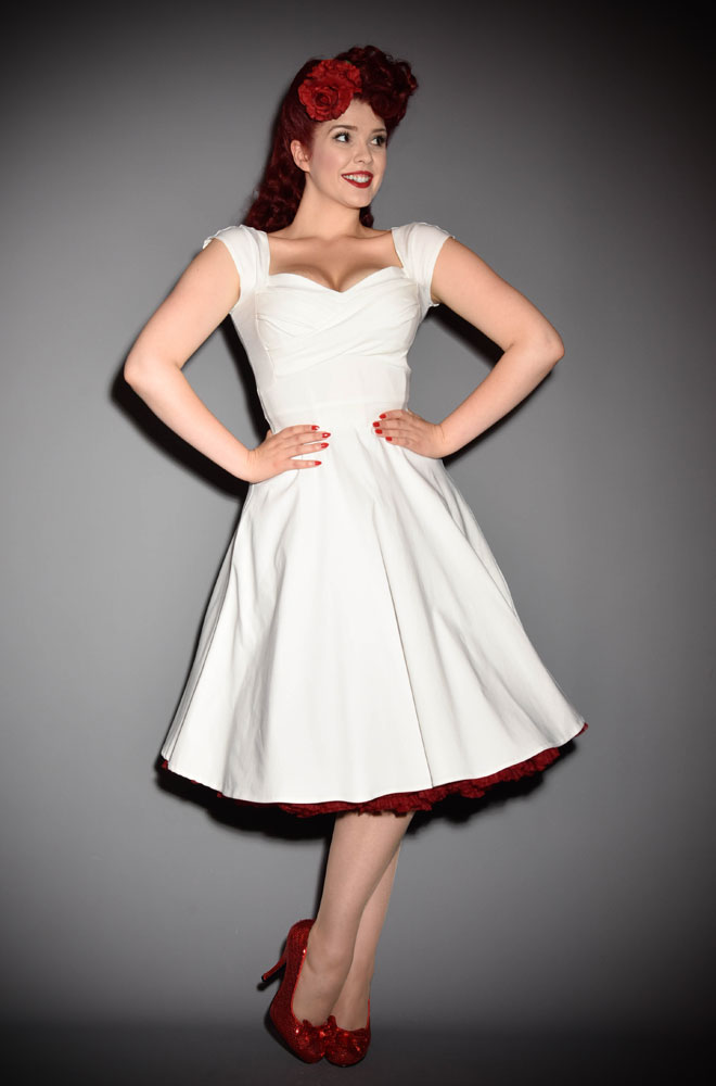 9a0330a4b985 50's Ivory Mad Style Swing Dress at Stop Staring! official UK stockists  Deadly is the