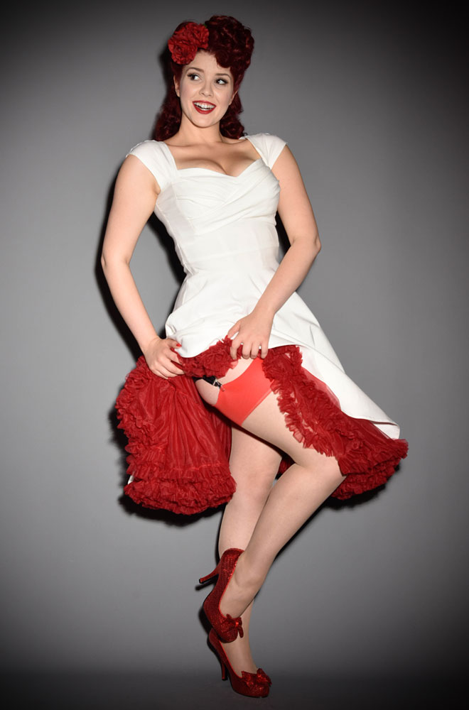 fa77889bcfe2a The Red Glamour Seamed Stockings are elegant champagne nylons with a  lipstick red seam. They