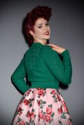 Brand new for Spring/Summer! The stunning Emerald Green Peggy Sue Cardigan by Emmy Design is a beautiful wardrobe essential. The striking emerald green colour is bright and flattering to all skin tones. Deadly is the Female are UK Stockists of Emmy Design.