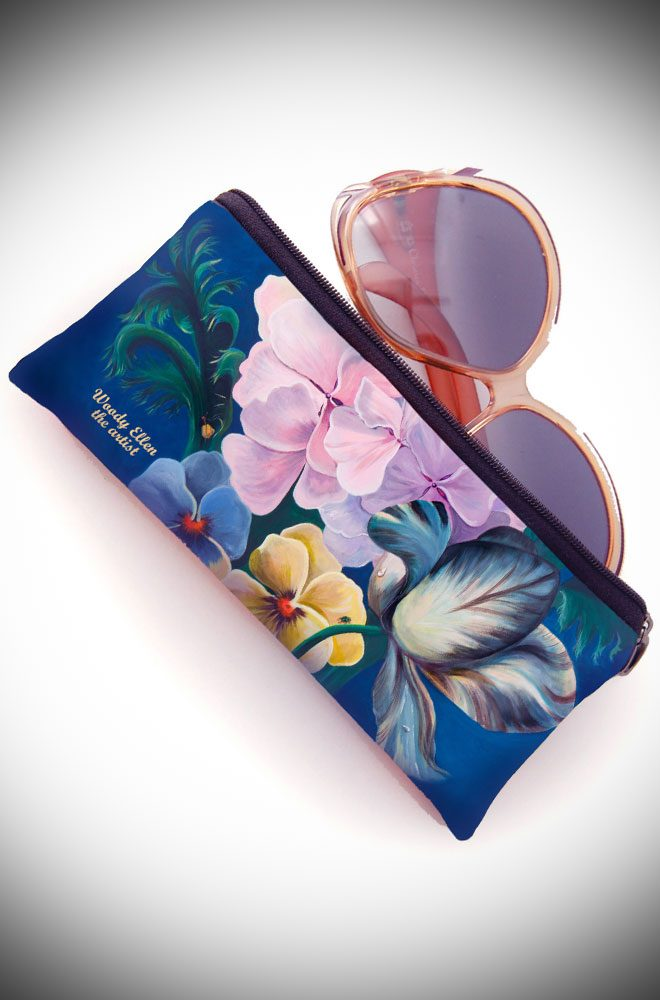 The Woody Ellen Eden Pencil case is the accessory you didn't know that you needed! This nifty little pencil case can of course be used for your pens but it is also useful as a glasses case, makeup bag or to keep your essentials in one place. DeadlyistheFemale.com are UK stockists of Woody Ellen.