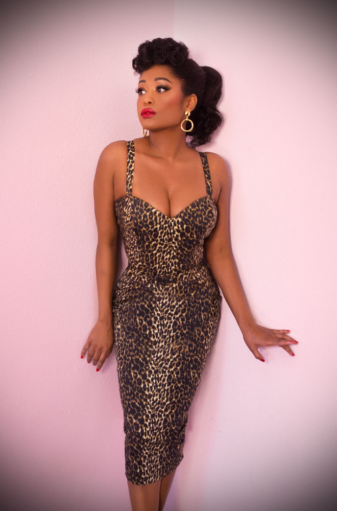 The Leopard Sweetheart Wiggle dress is a bombshell of a dress! Deadly is the Female are official UK stockists of Vixen by Micheline Pitt.