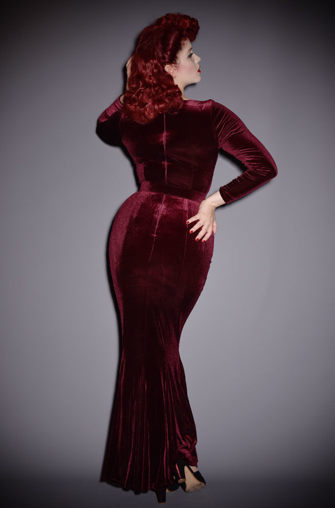 LFEN_BlackMarilynGown_Oxblood