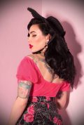 The Rose Red Powder Puff Top has arrived at Deadly is the Female, official UK stockists of Vixen by Micheline Pitt. Wear it on or off the shoulder, depending on your desired level of sass! Good things for bad girls.