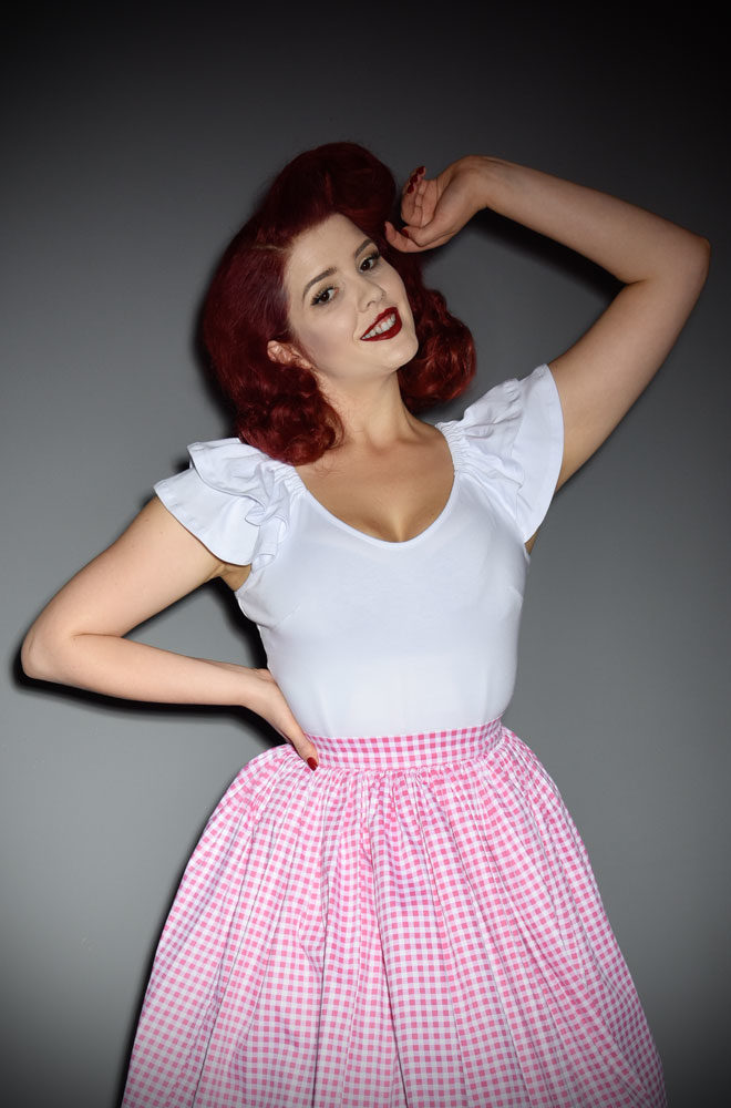 The White Lolita Top has arrived at Deadly is the Female, official UK stockists of Vixen by Micheline Pitt. Good things for bad girls. This sassy top is as comfortable as it is stylish. Wear it on or off the shoulder, depending on your desired level of sass!