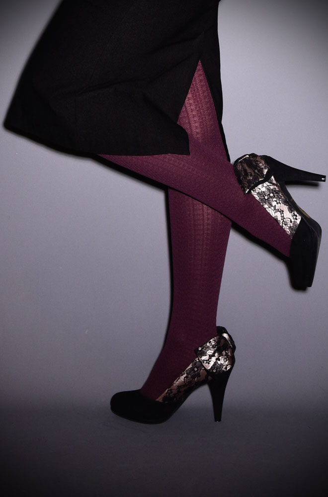 We adore these Aubergine Cable Knit Tights worn with boots, skirt and a cosy knit! A great way to continue a colour story through your outfit, especially when paired with one of our Emmy Cardigansin a coordinating colour!