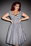 The Black Gingham Bardot Dress is the ultimate peasant dress! Inspired by the iconic style of Bardot. Deadly is the Female are official UK stockists of Vixen by Micheline Pitt.Good things for bad girls.