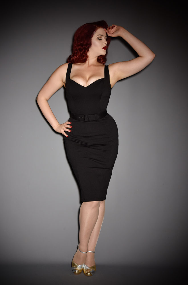 The Black Bombshell Wiggle Dress truly lives up to its name! Deadly is the Female are official UK stockists of Vixen by Micheline Pitt.