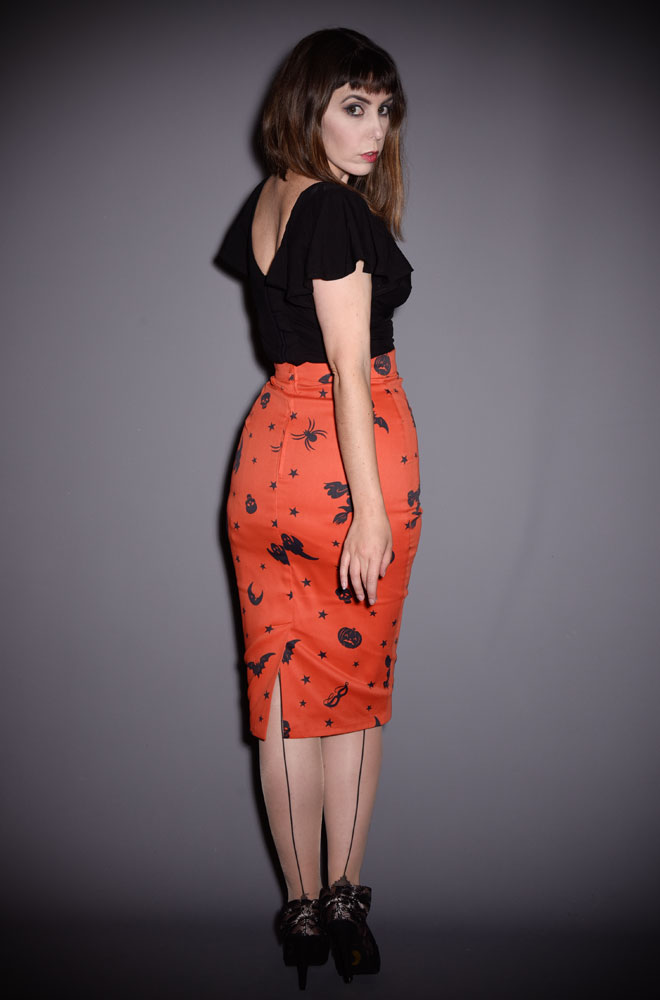 83898dbfa The Ben Cooper Vintage Halloween Vixen Pencil Skirt has arrived at Deadly  is the Female,