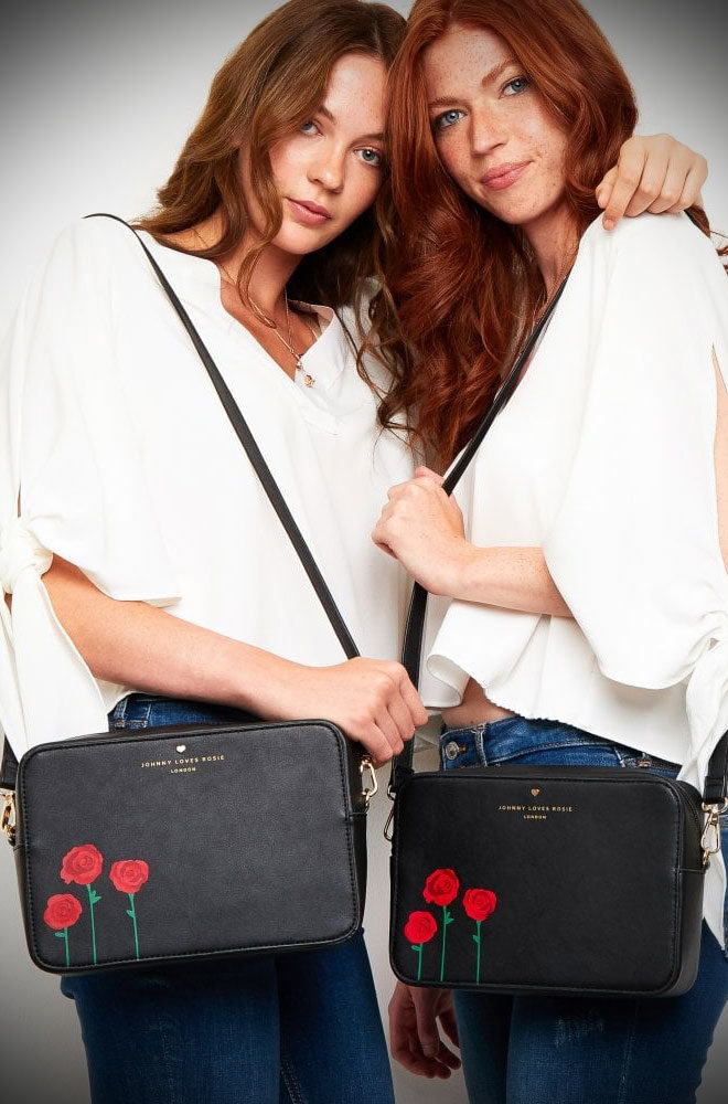 The Black Rose PrintCrossbodyBag will take you from day to evening in sassy style!This little bag is a great size balancing practicality with style.