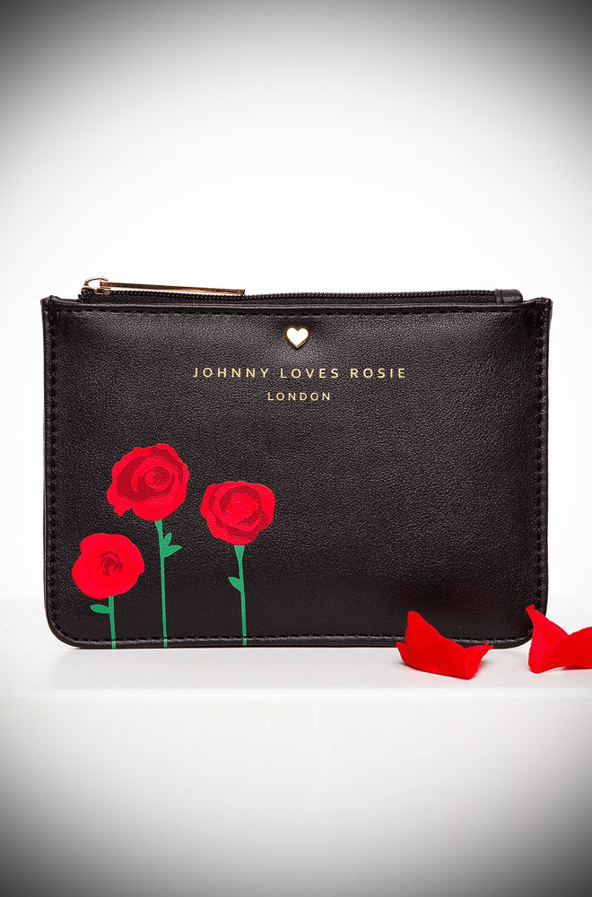 The Rose Print Black Coin Purse is just adorable and makes an excellent gift! Perfect for everyday, nights out and everything in between!