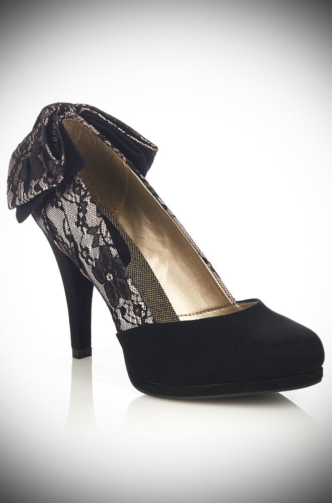 New for this season! Introducing the fabulously flirty Lace Katie Shoes by Ruby Shoo, available now at dealyisthefemale.com